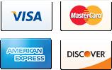 Visa, Mastercard, American Express & Discover Card Logos